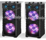 DOUBLE 15INCH PROFESSIONAL SPEAKER SYSTEM WITH LIGTH
