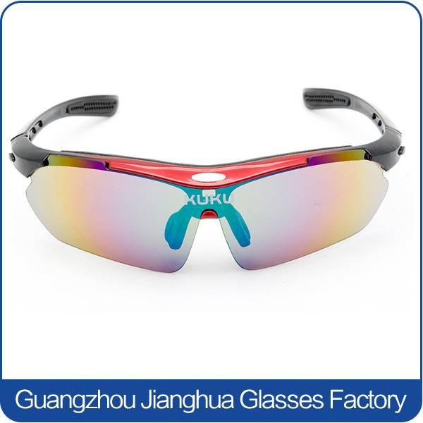 colorful lens adjustable temple sports cycling sunglasses fashionable men hot sun glasses