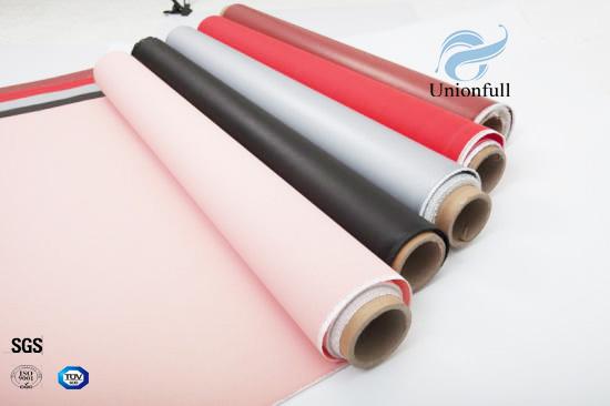Fireproof 530g 0.45mm Silicone Fiberglass Fabric