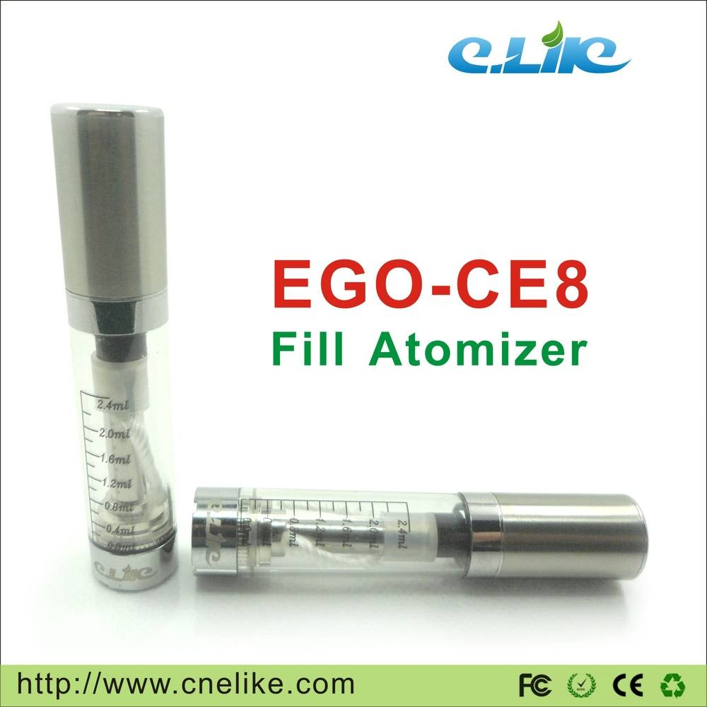 High Quality New EGO-CE8 Clearomizer Starter Kit, 2.4 Ml Larger Capacity Electronic Cigarette