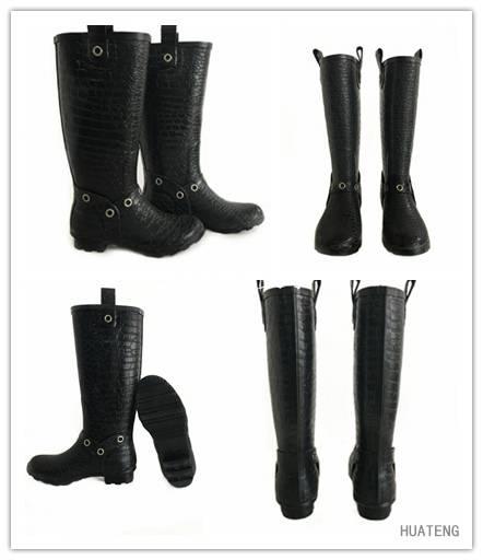 New Fashion Rubber Rain Boots, Rubber Boots, Women Printing Rain Boots