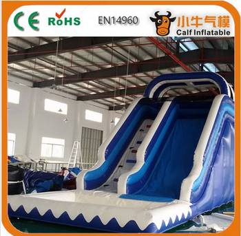 Best selling special design giant inflatable slide with pool from manufacturer