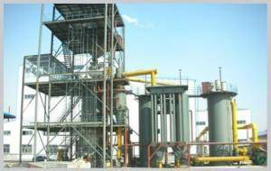 Two-stage gas producer