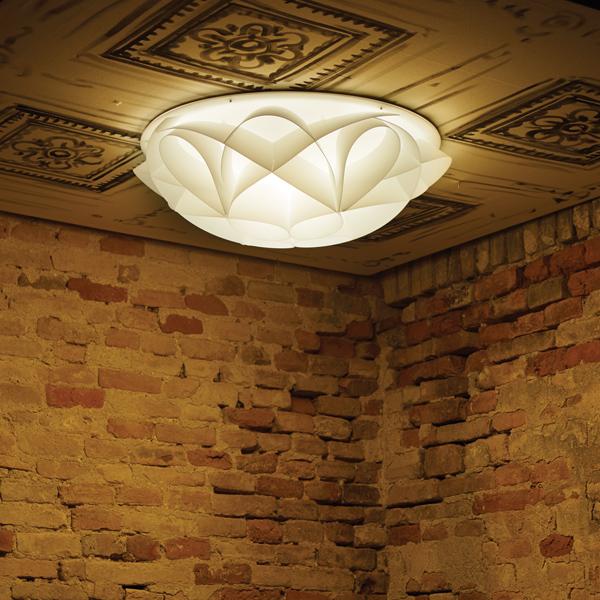 Wall Lighting 4 light Ceiling Lamp in pearl white PMMA Italian Design