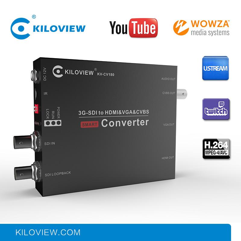 Network to SDI VGA HDMI AV CVBS Video Processor RTMP to 1080P H.264 Video Encoder Decoder Hardware