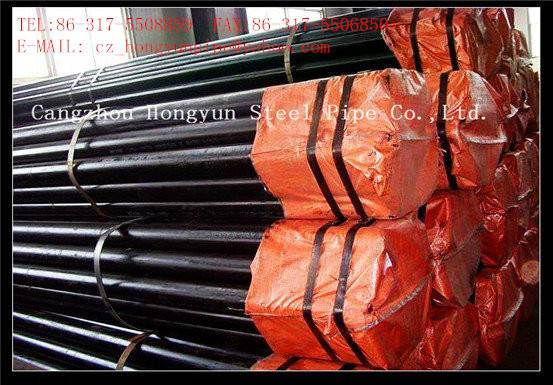 Large stock hot galvanized ERW welded A106 grade carbon steel pipes