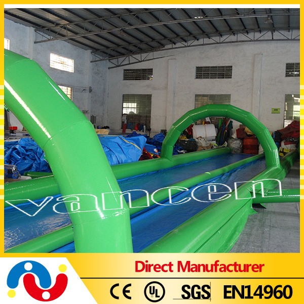 Commercial Double lane City Slide 1000ft Inflatable water Slide The City inflatable wet slide n slip