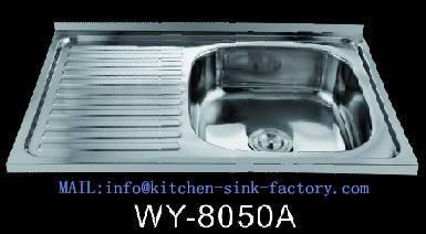 2016 New single bowl kitchen sinks polish surface 8050