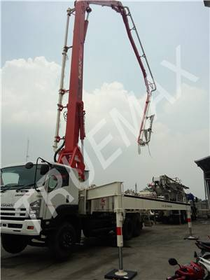 25m Concrete Pump with Boom, Truck Mounted Boom Pump