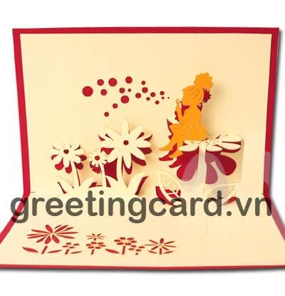 Baby birthday 3D pop up greeting card