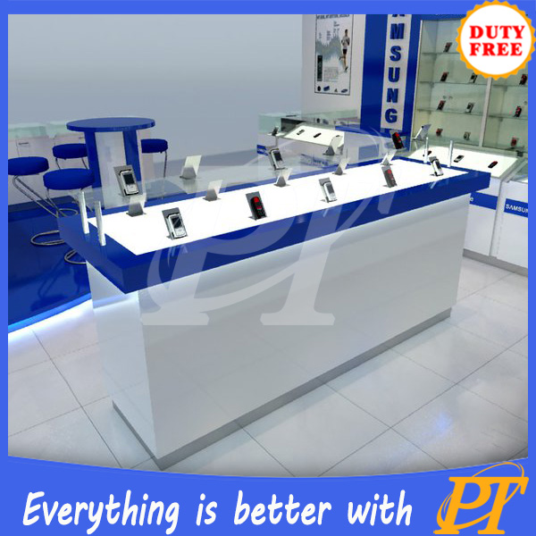 digital products display showcase , mobile phone showcase table, cellphone accessories cabinet