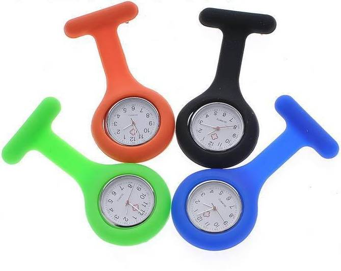 Fashion electric silicone nurses watch wristwatches