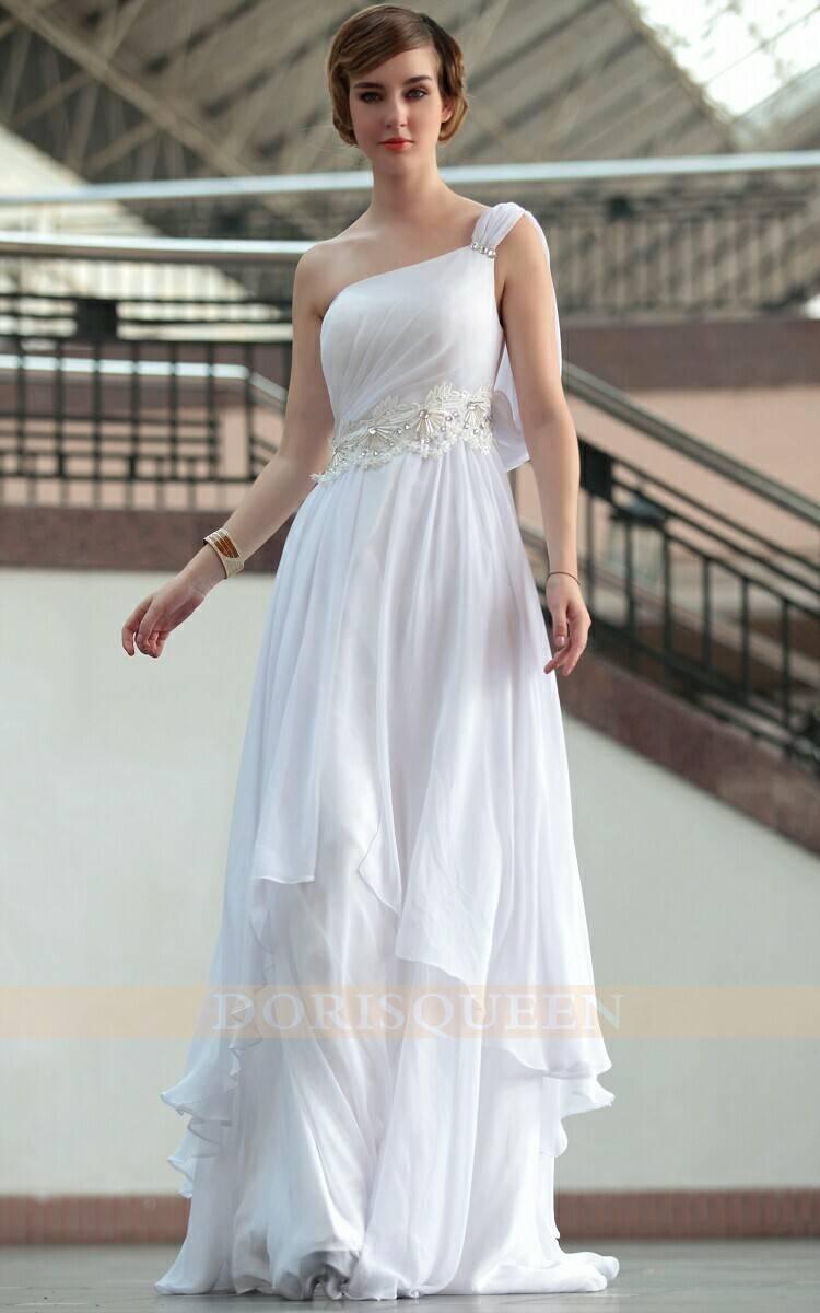 DORISQUEEN One Shoulder Floor Length Ladies Western Wear evening dress wholesale 30665