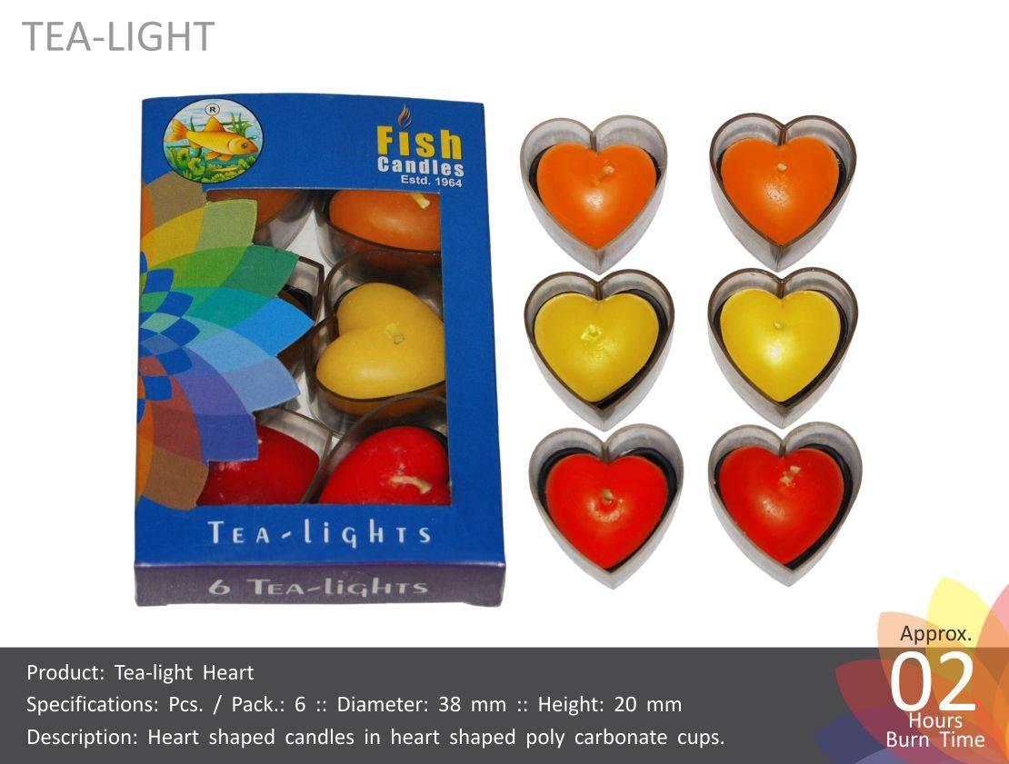 Tea Light Heart Candles