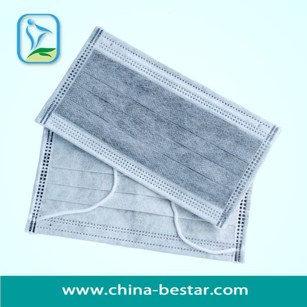 Free Sample non woven active carbon face mask with ear-loops