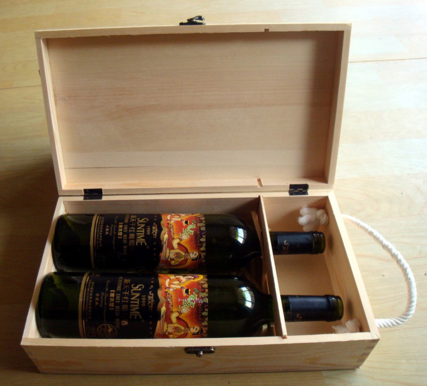 Cheap pine wooden wine box wholesale