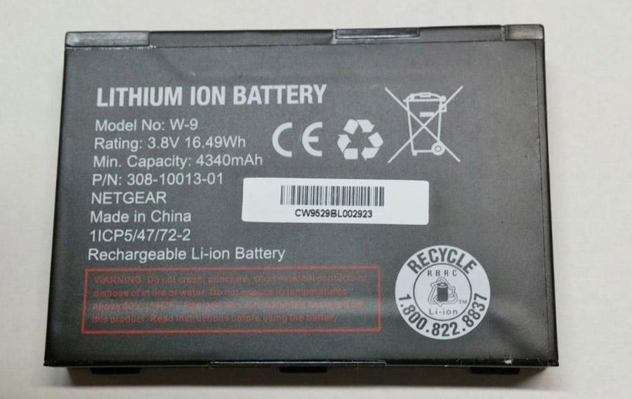NetGear W-9 W9 4300mAh Lithium 3.8V Battery 308-10013-01 for Jetpack AC791L Mobile Hotspot Battery