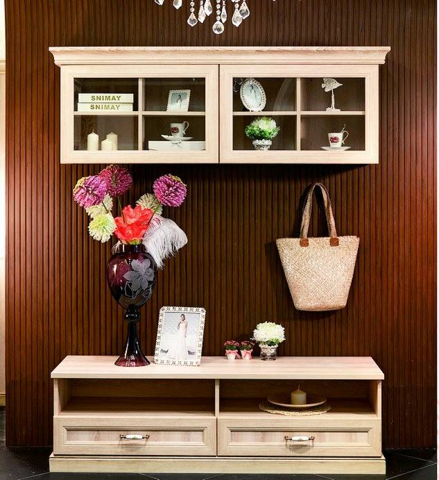 Modern Wooden TV LCD Cabinet with Showcase