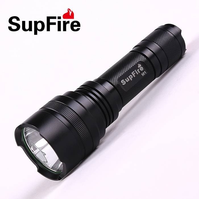 Low price and high-quality LED rechargeable household flashlight SupFire M1 with AAA battery support
