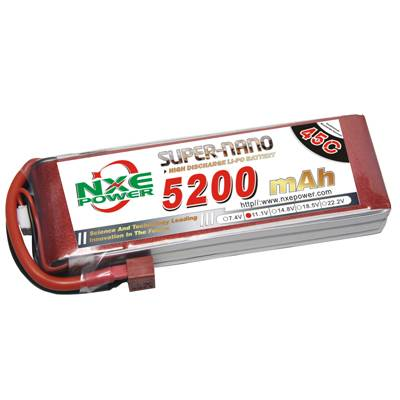NXE5200mAh-60C-11.1V Softcase RC Helicopter Battery