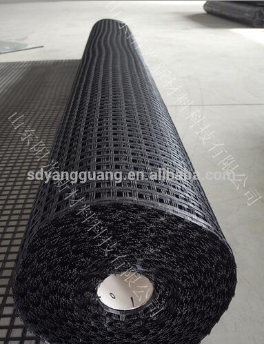 300KN-300KN Polyester geogrid warp knitted grid with CE certified factory supply
