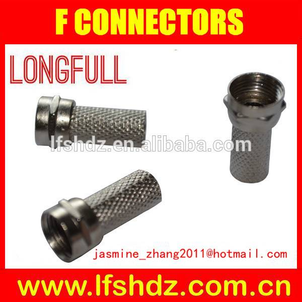F Connector for RG6, Rg58, Rg59, Rg11, Rg316, Ppc Ex11 and Ex6xl