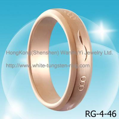 Fashion and Custom White Tungsten Jewelry Rings
