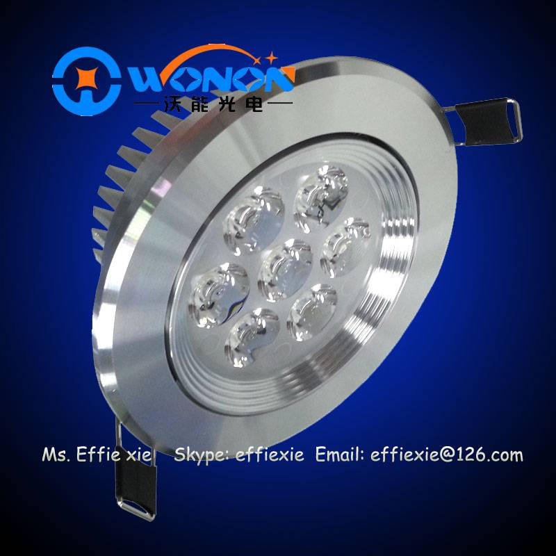 7*1W recessed led ceiling lights dimmable