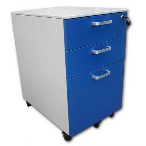 China professional supplier lockable 3 drawers movable steel cabinet