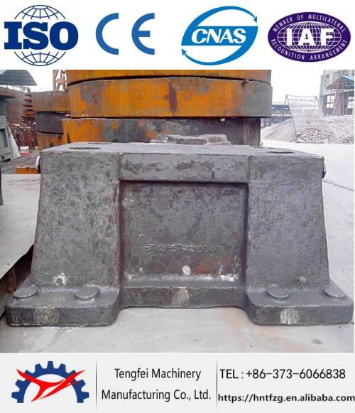 cast steel iron pedestal/heavy industry machine base/base for crusher