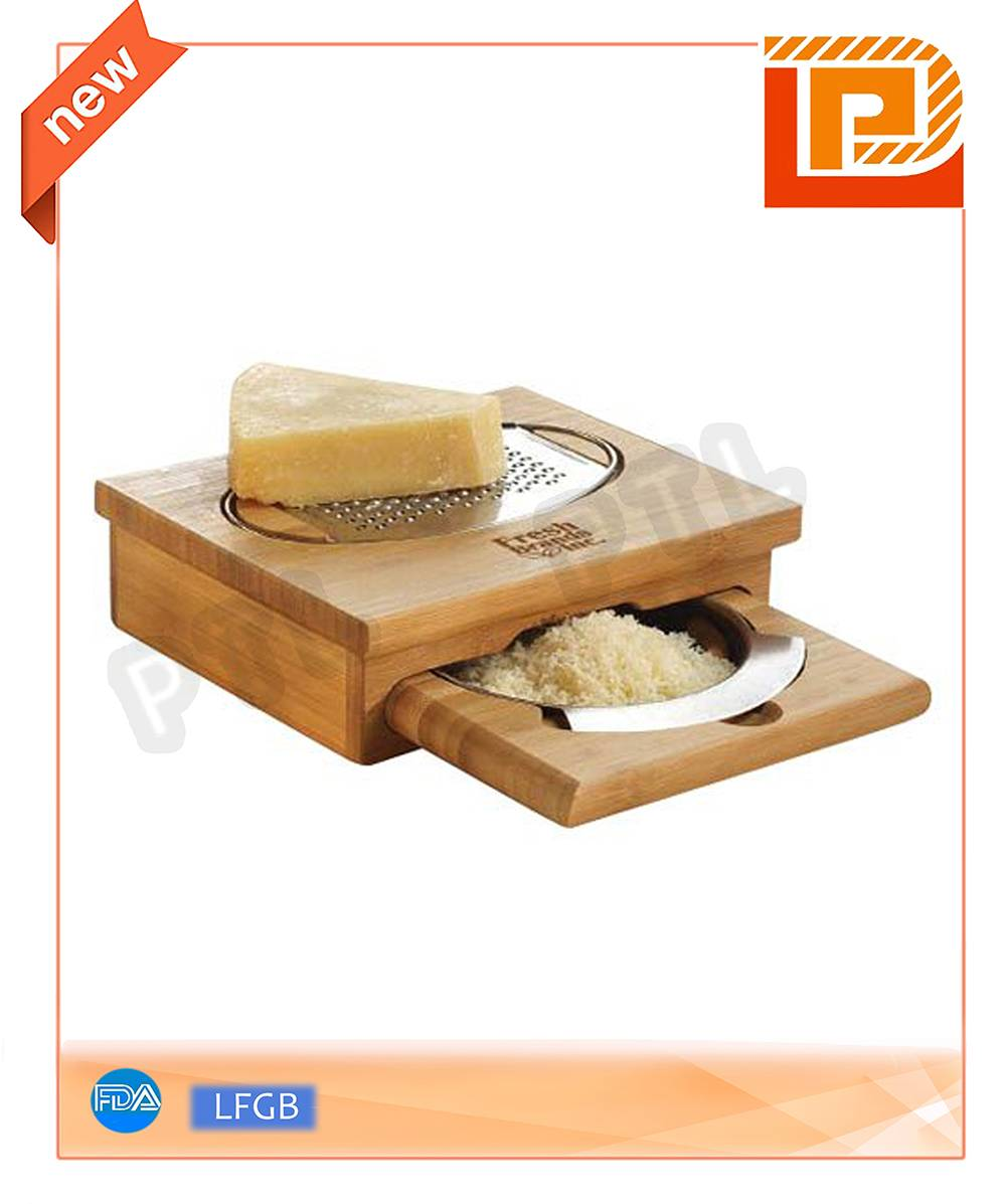 Deluxe wooden cheese peeler with active holder