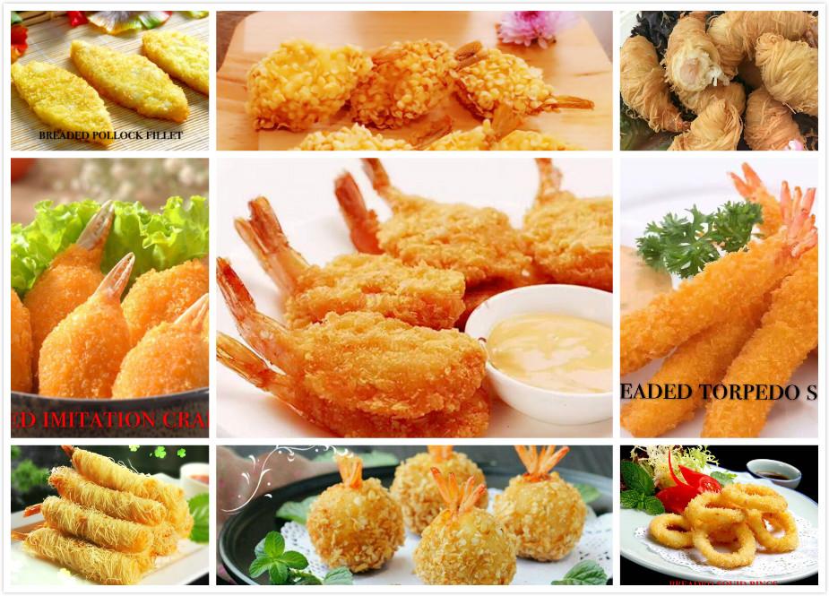 Frozen breaded shrimp serie