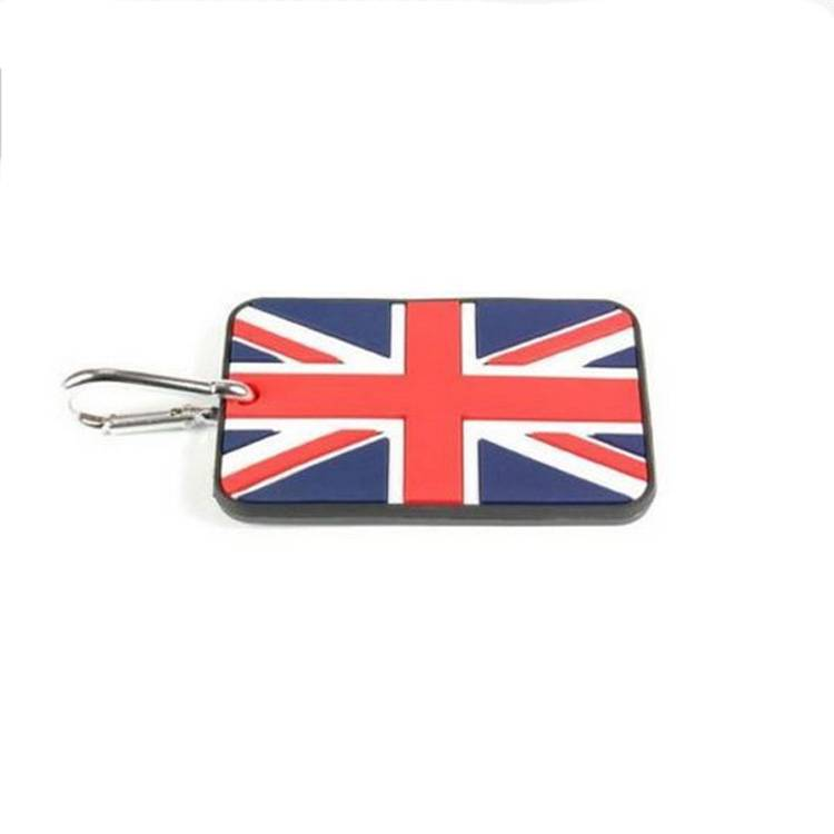 customized flag design pvc luggage tag