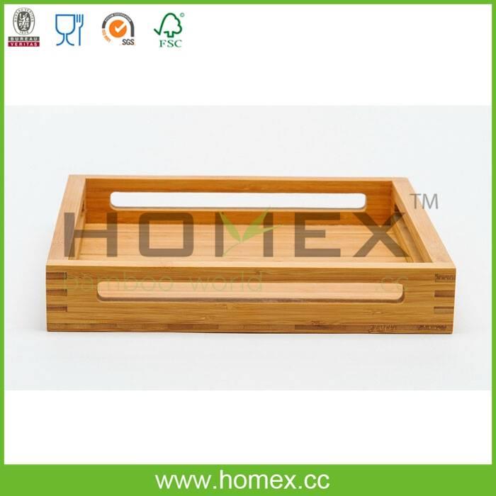 Natural 100% Bamboo Serving Tray/HOMEX-FSC/SGS/FDA/LFGB/BSCI