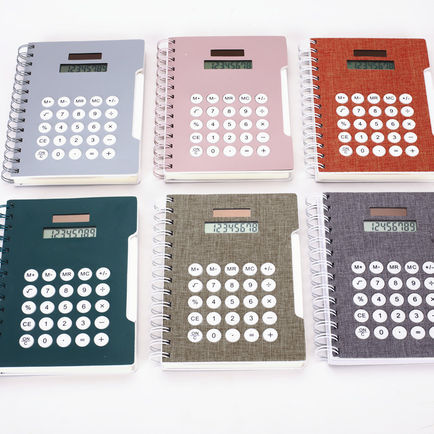 A5 Size Notebook with Built-in Solar Calculator   business promo products