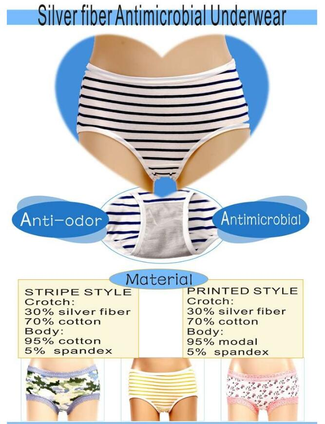 Radia shielding silver fabric for underwear silver 43#