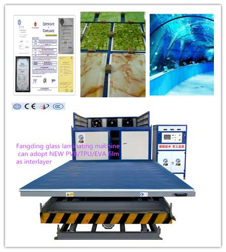 Fangding EVA laminated glass machine with 99% production yield and excellent quality