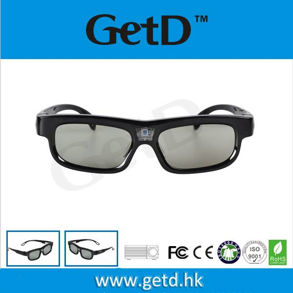 USB rechargeable DLP Link Projectors square frame glasses--GL1100