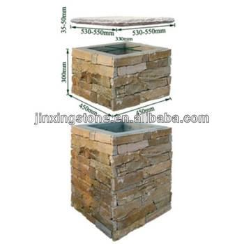 slate stone column