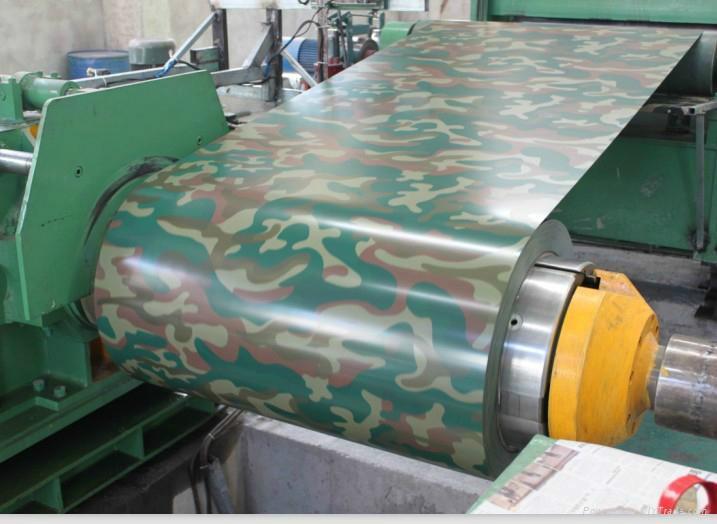 AZ60 camouflage color PPGI/prepainted galvanized steel coil