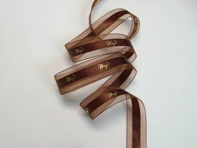 Organza Ribbon with Hot Stam Print