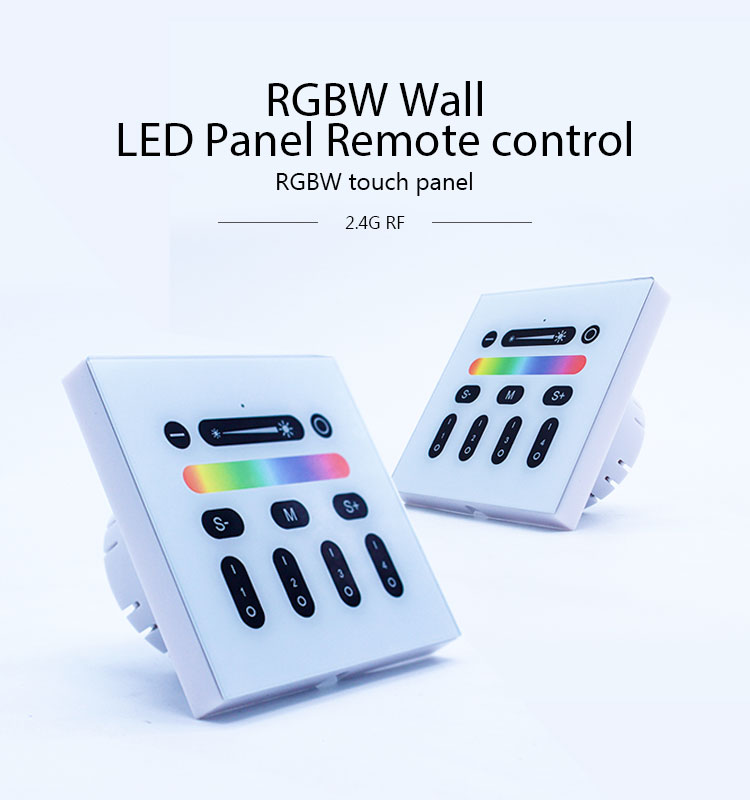 2.4G RF rgbw rgb 4 zone wall mounted touch panel remote controller compatible with all 2.4 G product