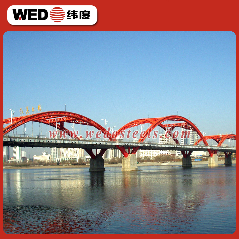 WEDO prefabricated steel structure railway bridge