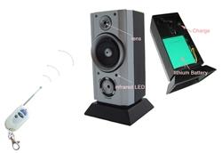 Boom box radio with spy security wireless surveillance mini camera and remote control