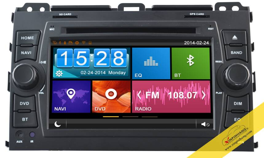 Capacitive touch screen specail car DVD for TOYOTA Proda with 3G/WIFI/DVR/OBD/ Mirror Link/Audio Cop