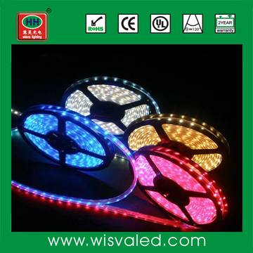 CE RoHS 12V 60leds/m waterproof led strip rgb