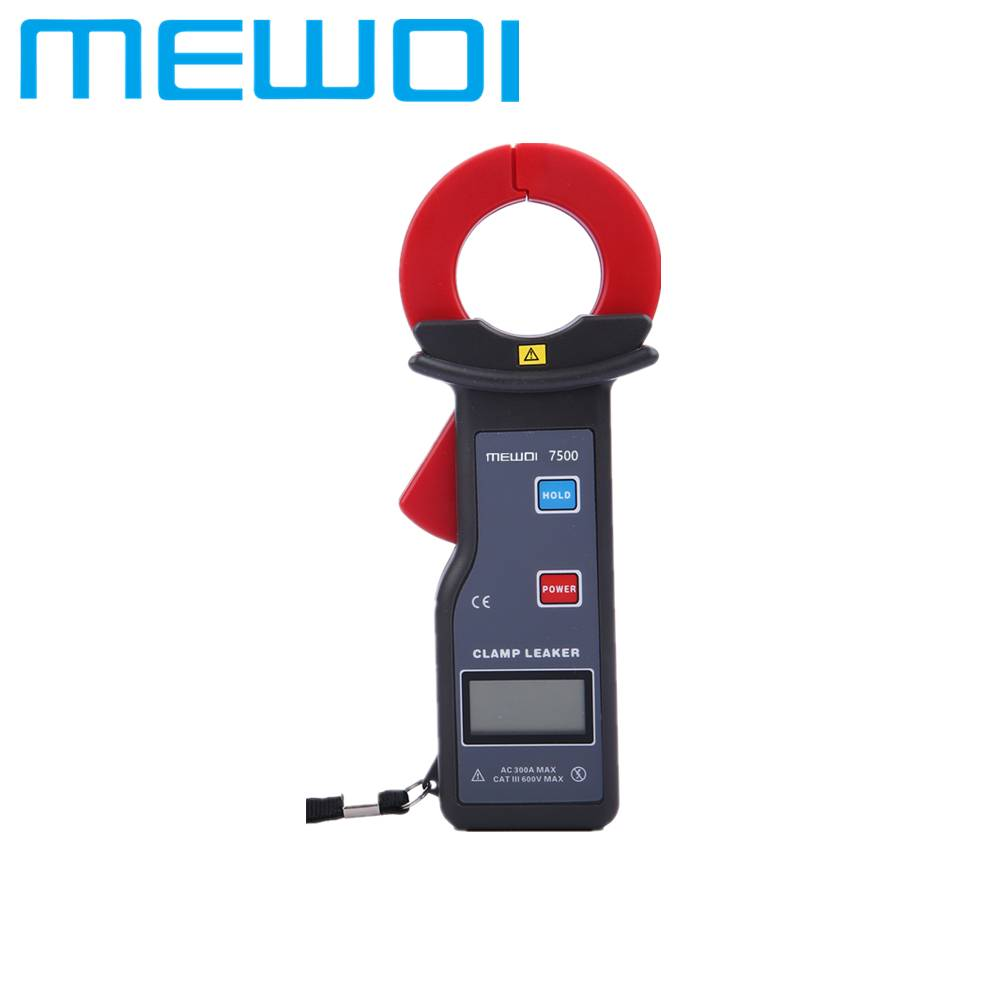 MEWOI7500-35mm×40mm ,AC 0.00mA~300.0A High Accuracy AC Clamp Leaker