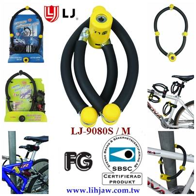 4 Sections Alloy Steel Foldable Lock SBSC Approve Secure Bicycle Scooter Gate
