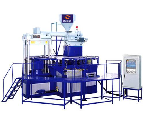 1/2/3 color automatic rotary PVC boots injection moulding machine