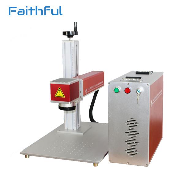 30w Fiber laser marking machine stainless steel ear dog name tag printing machine